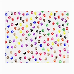 Paw Prints Background Small Glasses Cloth