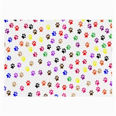Paw Prints Background Large Glasses Cloth (2 Side)