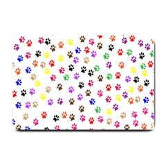 Paw Prints Background Small Doormat