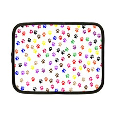 Paw Prints Background Netbook Case (small)
