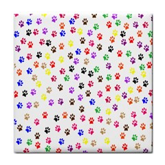 Paw Prints Background Face Towel