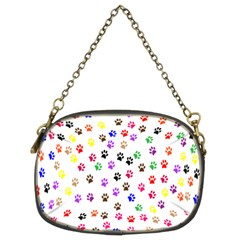 Paw Prints Background Chain Purses (two Sides)