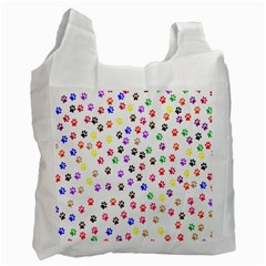 Paw Prints Background Recycle Bag (two Side)