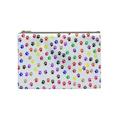 Paw Prints Background Cosmetic Bag (medium)
