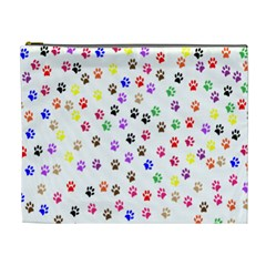 Paw Prints Background Cosmetic Bag (XL)