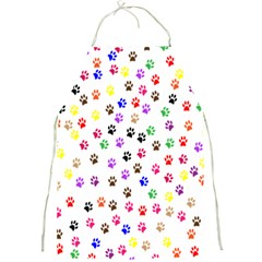 Paw Prints Background Full Print Aprons