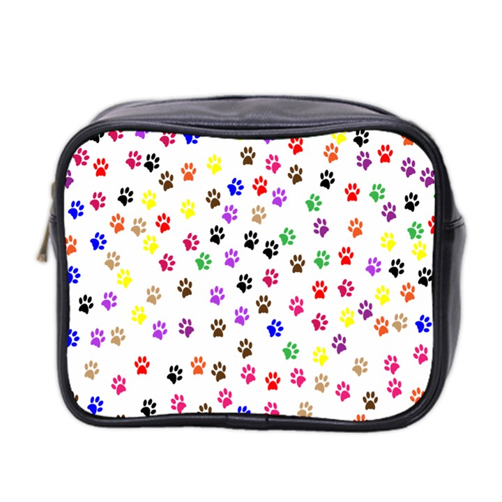 Paw Prints Background Mini Toiletries Bag 2-Side