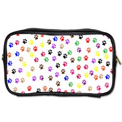 Paw Prints Background Toiletries Bags 2 Side
