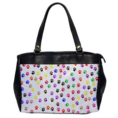 Paw Prints Background Office Handbags