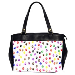Paw Prints Background Office Handbags (2 Sides)