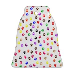 Paw Prints Background Bell Ornament (two Sides)