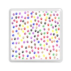 Paw Prints Background Memory Card Reader (square)