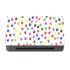 Paw Prints Background Memory Card Reader With Cf