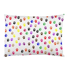 Paw Prints Background Pillow Case (two Sides)