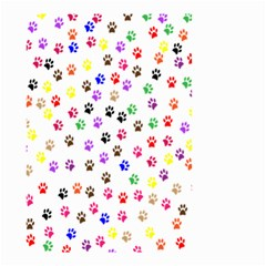 Paw Prints Background Small Garden Flag (two Sides)