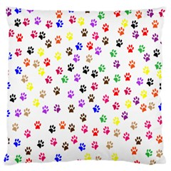 Paw Prints Background Large Cushion Case (One Side)