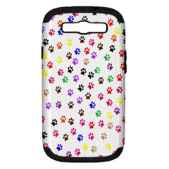 Paw Prints Background Samsung Galaxy S Iii Hardshell Case (pc+silicone)