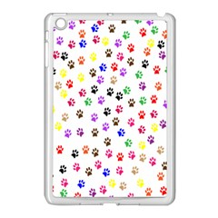 Paw Prints Background Apple Ipad Mini Case (white)