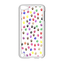 Paw Prints Background Apple Ipod Touch 5 Case (white)