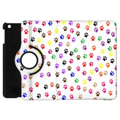 Paw Prints Background Apple Ipad Mini Flip 360 Case