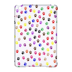 Paw Prints Background Apple Ipad Mini Hardshell Case (compatible With Smart Cover)