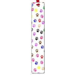 Paw Prints Background Large Book Marks