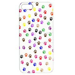 Paw Prints Background Apple Iphone 5 Hardshell Case With Stand