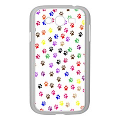 Paw Prints Background Samsung Galaxy Grand Duos I9082 Case (white)