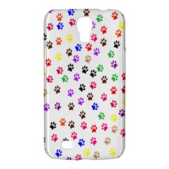 Paw Prints Background Samsung Galaxy Mega 6 3  I9200 Hardshell Case