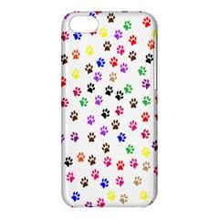 Paw Prints Background Apple Iphone 5c Hardshell Case