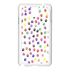 Paw Prints Background Samsung Galaxy Note 3 N9005 Case (white)