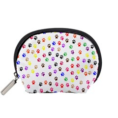 Paw Prints Background Accessory Pouches (small)