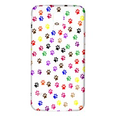 Paw Prints Background Samsung Galaxy S5 Back Case (White)