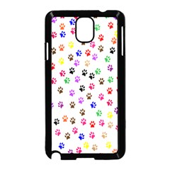Paw Prints Background Samsung Galaxy Note 3 Neo Hardshell Case (black)