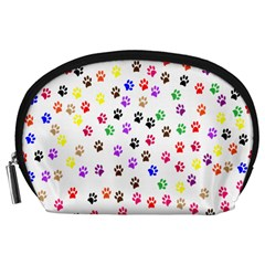 Paw Prints Background Accessory Pouches (large)