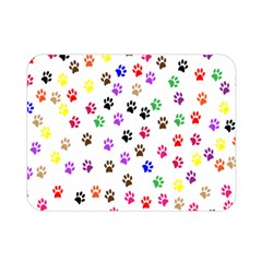 Paw Prints Background Double Sided Flano Blanket (mini)