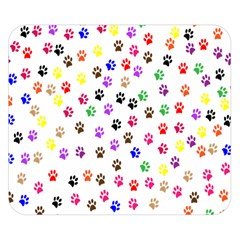 Paw Prints Background Double Sided Flano Blanket (small)