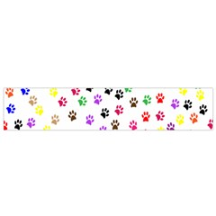 Paw Prints Background Flano Scarf (small)