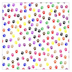 Paw Prints Background Large Satin Scarf (square)