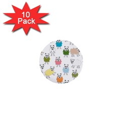 Sheep Cartoon Colorful 1  Mini Buttons (10 Pack)