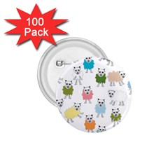 Sheep Cartoon Colorful 1 75  Buttons (100 Pack)