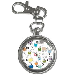 Sheep Cartoon Colorful Key Chain Watches