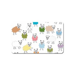 Sheep Cartoon Colorful Magnet (Name Card)