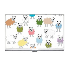 Sheep Cartoon Colorful Business Card Holders