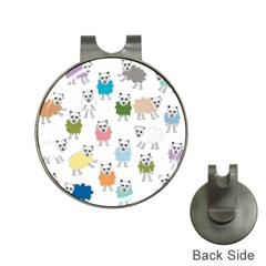 Sheep Cartoon Colorful Hat Clips With Golf Markers