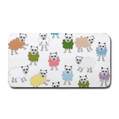 Sheep Cartoon Colorful Medium Bar Mats