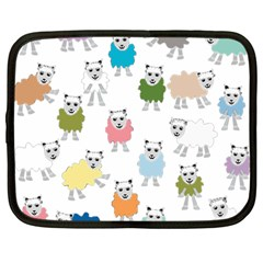 Sheep Cartoon Colorful Netbook Case (large)