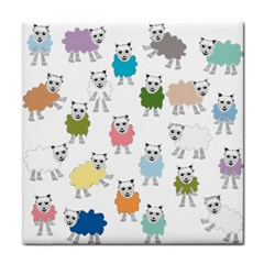 Sheep Cartoon Colorful Face Towel