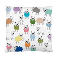 Sheep Cartoon Colorful Standard Cushion Case (Two Sides)