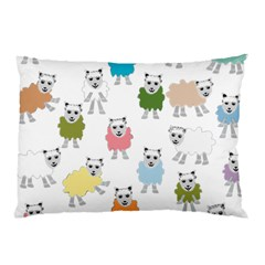 Sheep Cartoon Colorful Pillow Case